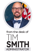 From the desk of Tim Smith, Administrator