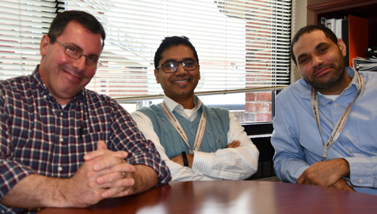 Tom Costello, Mohammed Raqib, and Warren Henry (left to right) are introducing an Intelligent Traffic System on US 1.