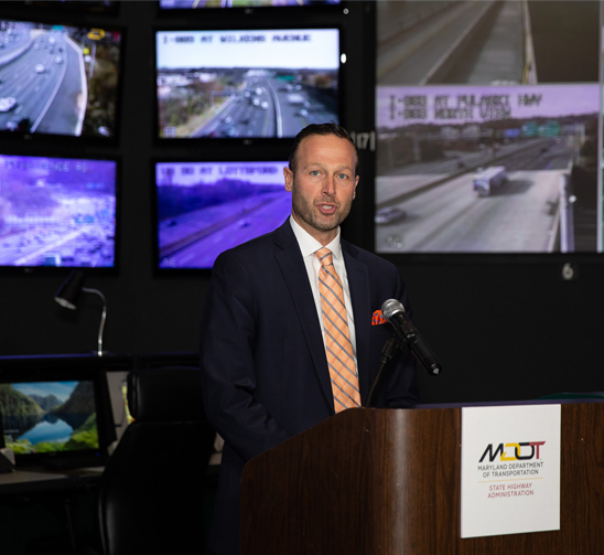 During its 25th anniversary, the SOC is getting a new operational center that will help staff focus on multiple collision reports occurring at the same time. Last year, MDOT Secretary Greg Slater spoke at a press conference at the SOC.