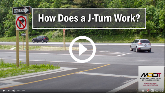 MDOT SHA is now producing a larger number of videos for the public than ever before. The videos emphasize safety and new highway features, including the newly opened J-turn on US 15.