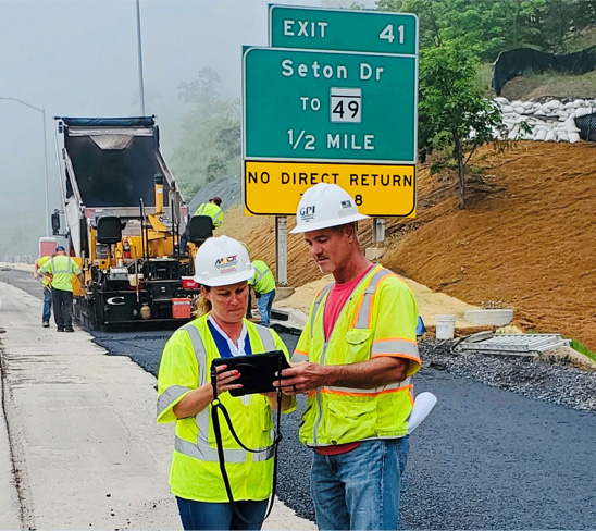 With the advent of e-Construction, tablets let inspectors take notes electronically on project sites and communicate rapidly with MDOT SHA staff and contractors.