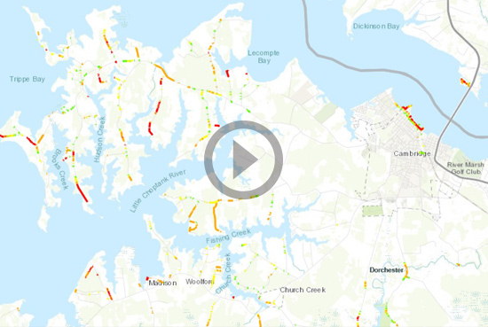 Innovation - New GIS-Based Application Can Predict Storm Surge Effects on Maryland Roads